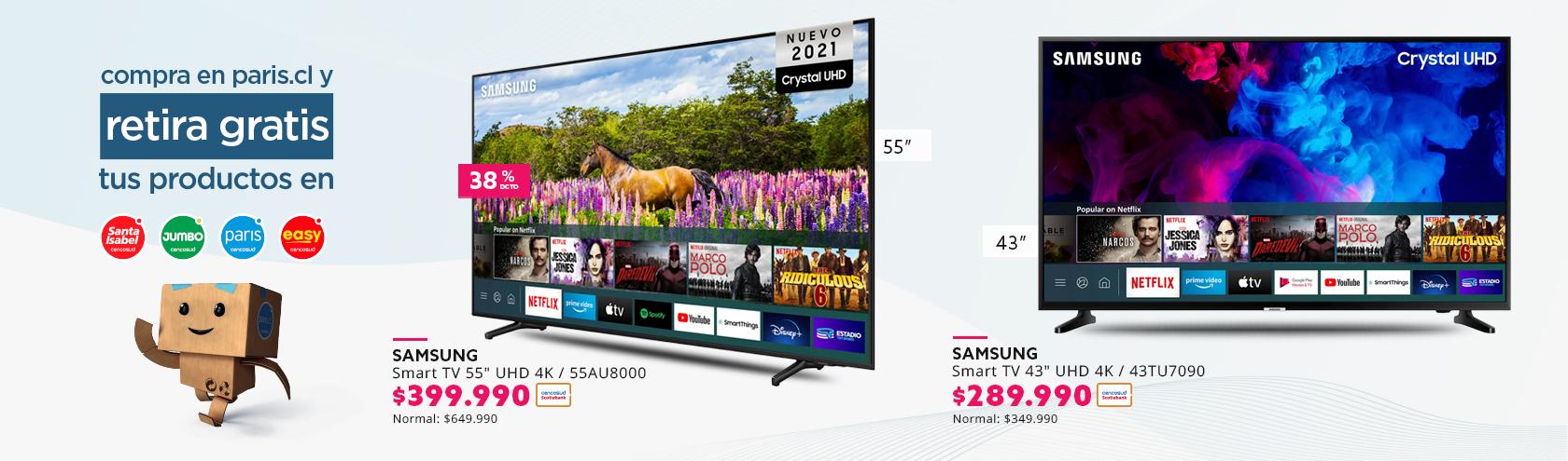 Las mejores ofertas en Smart TV solo en Paris