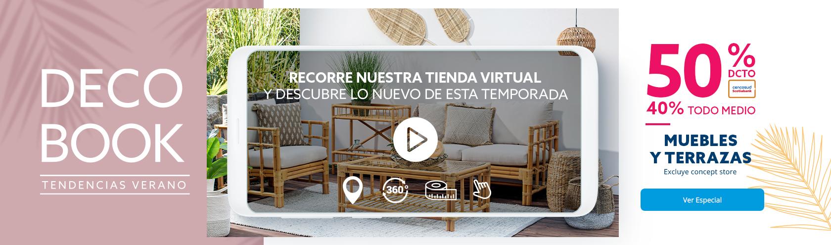 Especial Decobook Verano, descuentos en Muebles y terrazas, excluye concept store