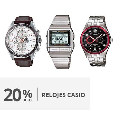 20 descuento relojes Casio