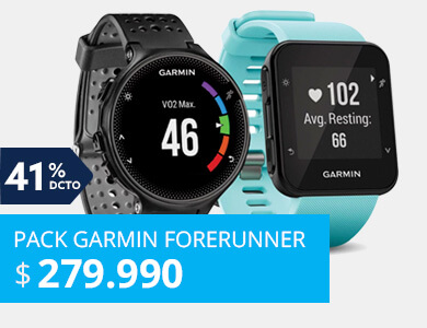 Smartwatch Garmin Forerunner 235 Negro + Smartwatch Garmin Forerunner 35 Frost Azu