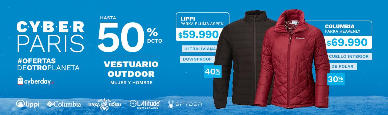 Vestuario Outdoor hasta 50%