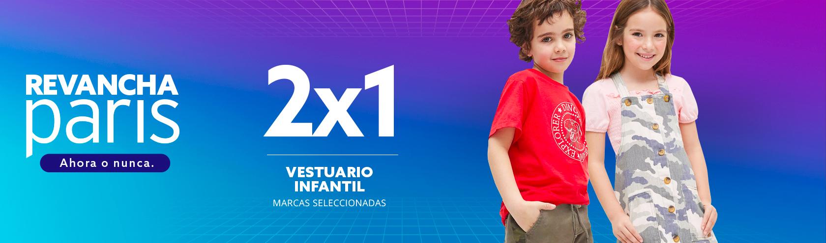 2x1 Vestuario Infantil Marcas seleccionadas