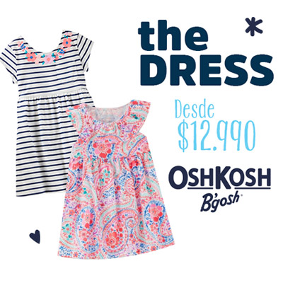 Vestidos de niñas y bebé de la nueva colección Oshkosh