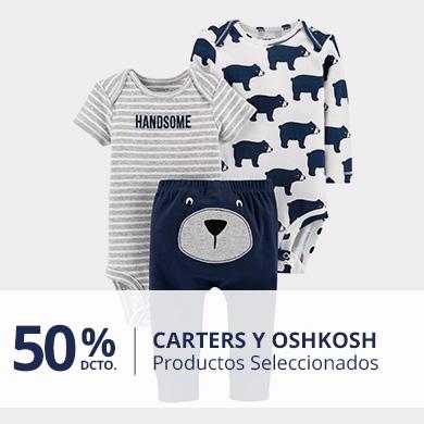 50% Carter y Oshkosh. Productos Seleccionados