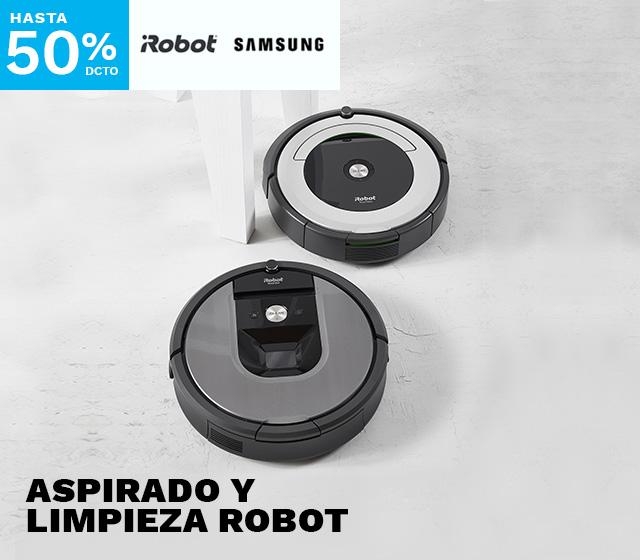 Hasta 50% en Aspirado y Limpieza robot