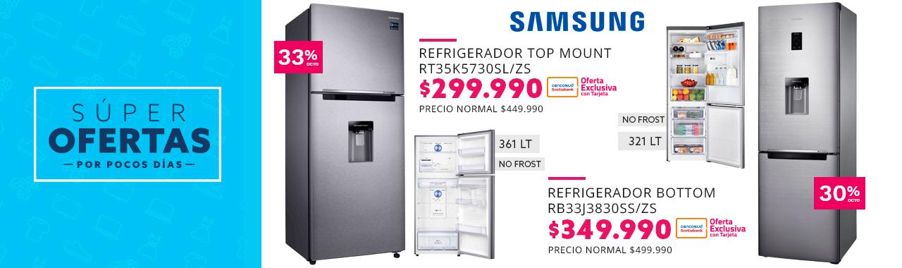 Refrigerador Samsung Top Mount No Frost 361 Lt a $299.990 con Tarjeta Cencosud