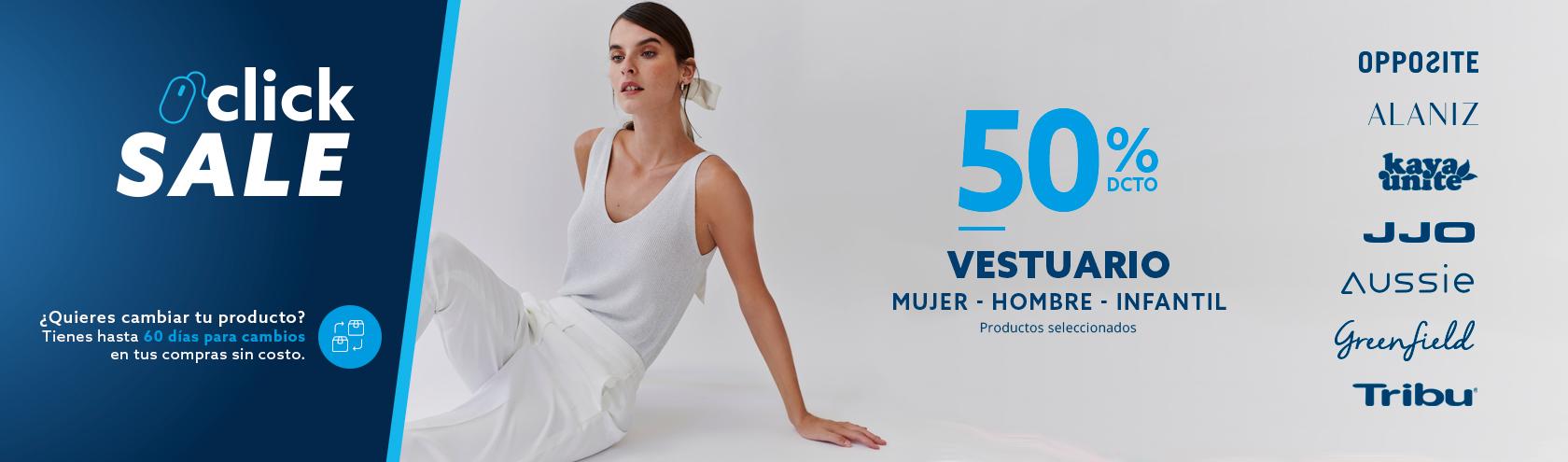 VESTUARIO 50% Todo Vestuario