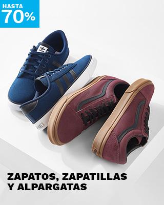 Hasta 70% Zapatos, Zapatillas, Alpargatas