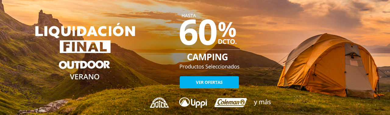 Hasta 60% en Camping. Productos Seleccionados