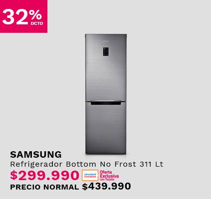 Refrigerador Bottom No Frost Samsung RB30K3210SS/ZS 311 Lt
