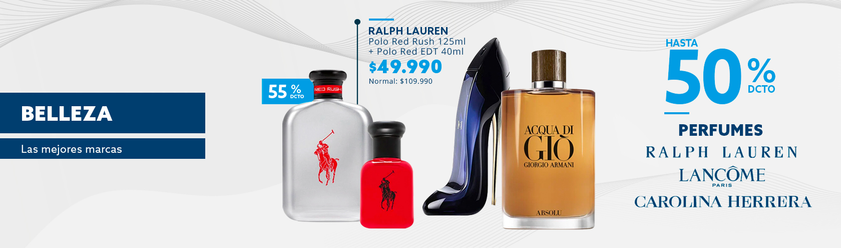 Hasta 50% de descuento todo medio de pago en tus perfumes favoritos