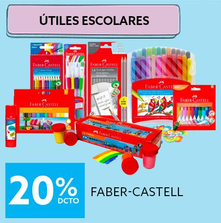 Hasta 20 porciento de descuento en Faber-Castell