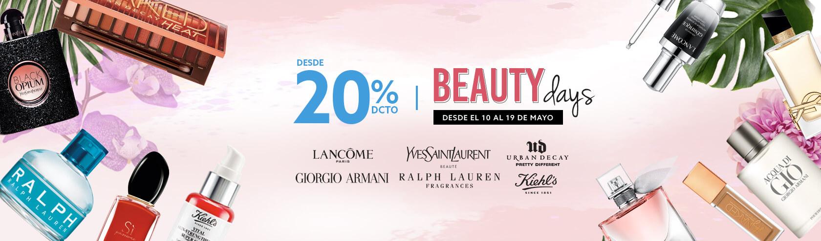 Beauty Days 20% de descuento en perfumes, cuidado de la piel y maquillaje