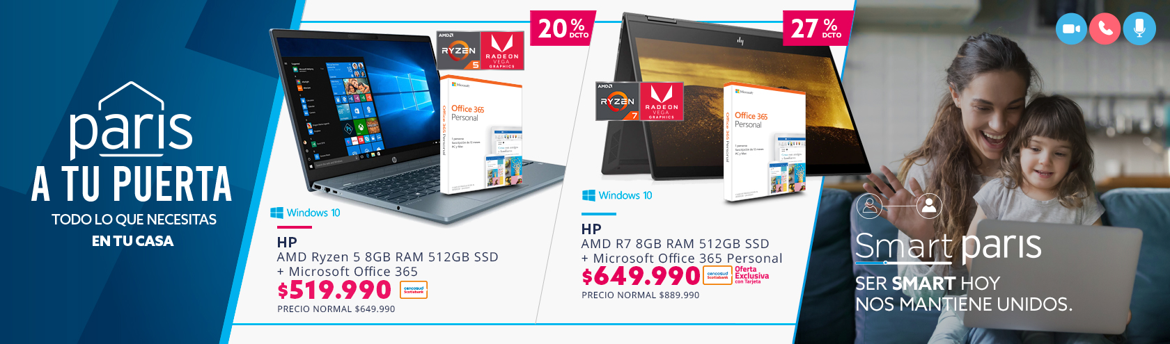Ofertas en notebook paris.cl