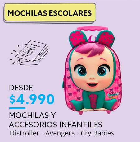 Mochilas y accesorios Infantiles desde $4990