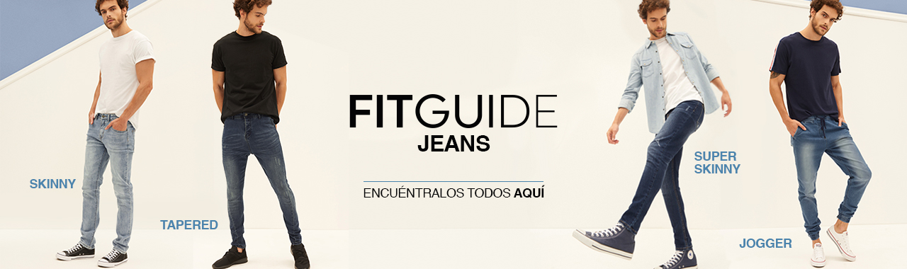 Ver todo Fit Guide Jeans Hombre