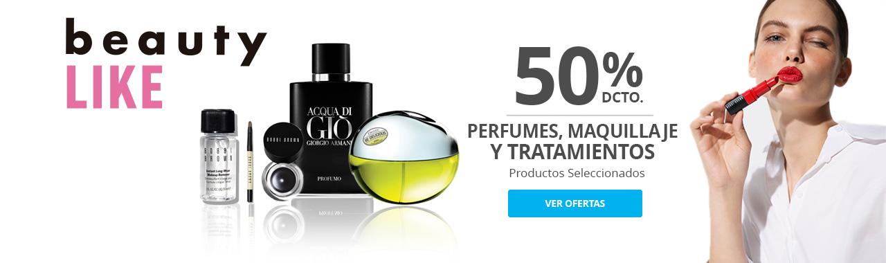 50% Perfumes, Tratamiento y Maquillaje