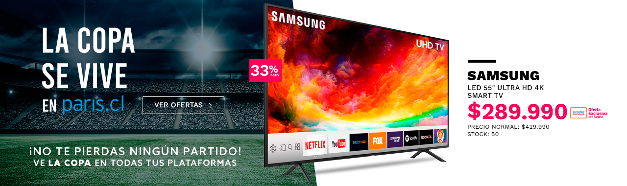 LED 55 Samsung Smart TV Ultra HD 4K