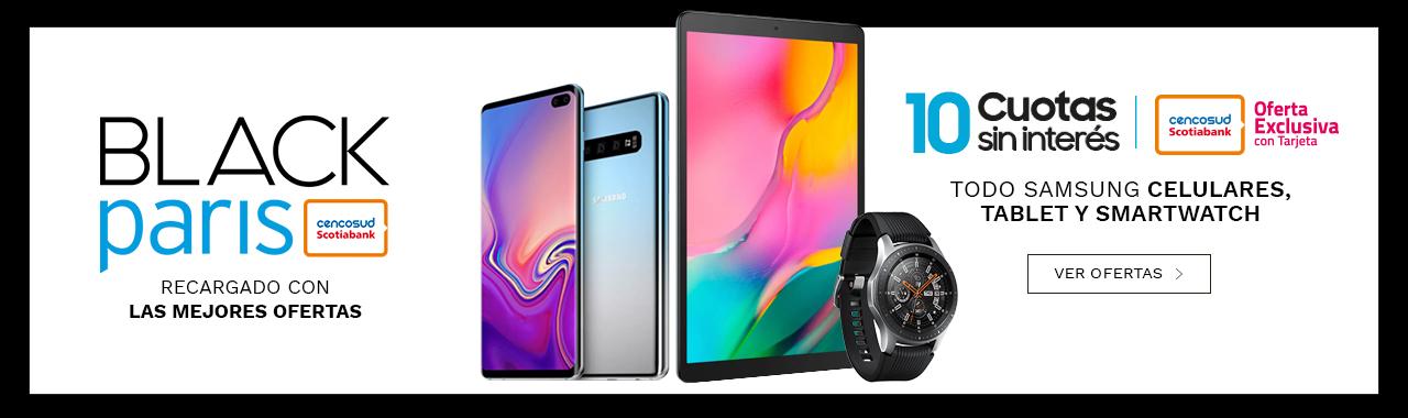 10 cuotas sin interes en todo Samsung Celulares, Tablet y Smartwatch, pagando con Tarjeta