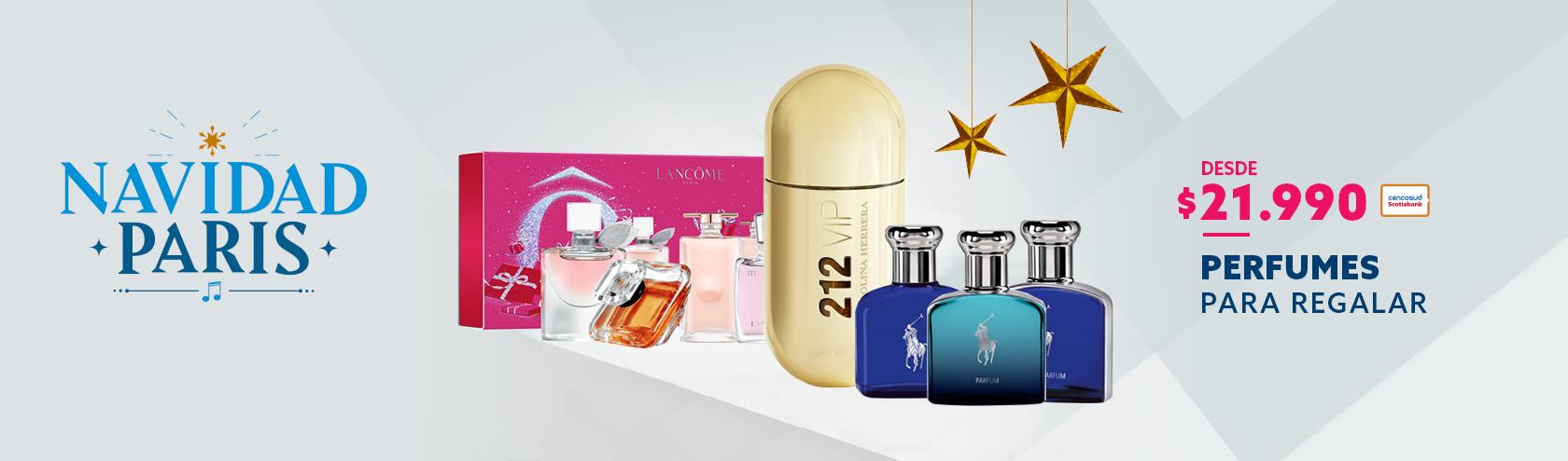 Desde 21990 con tarjeta cencosud en perfumes