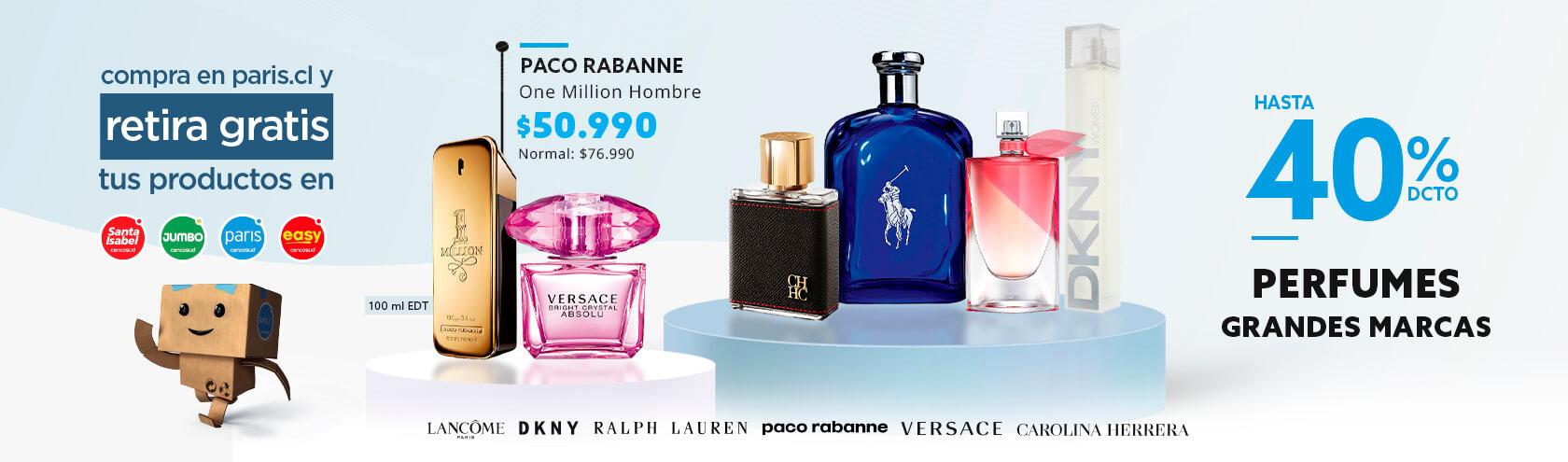 40% Perfumes y Tratamiento en productos seleccionados