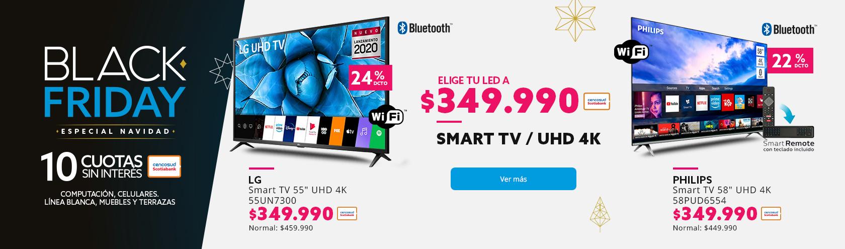 Elige tu Smart tv por $349.990