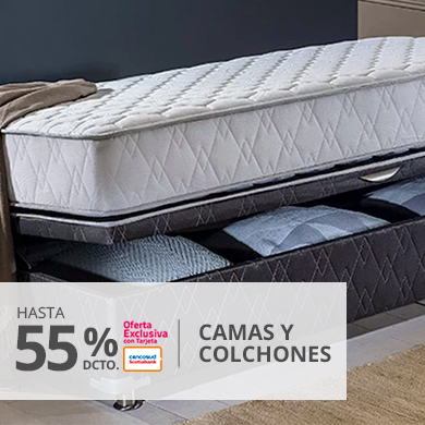 Hasta 55 por ciento menos en camas y colchones con tarjeta cencosud