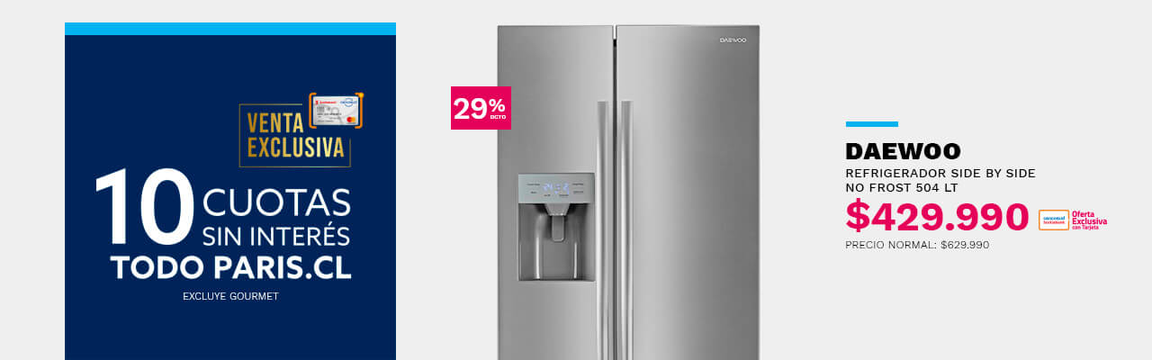 Refrigerador No Frost Daewoo FRS-K7500DXA 504 Lt