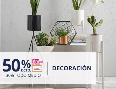 Hasta 50 porciento de descuento en decoracion