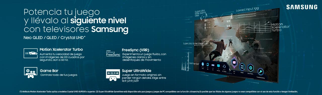Potencia tu juego y llévalo al siguiente nivel con televisores Samsung en Paris.cl