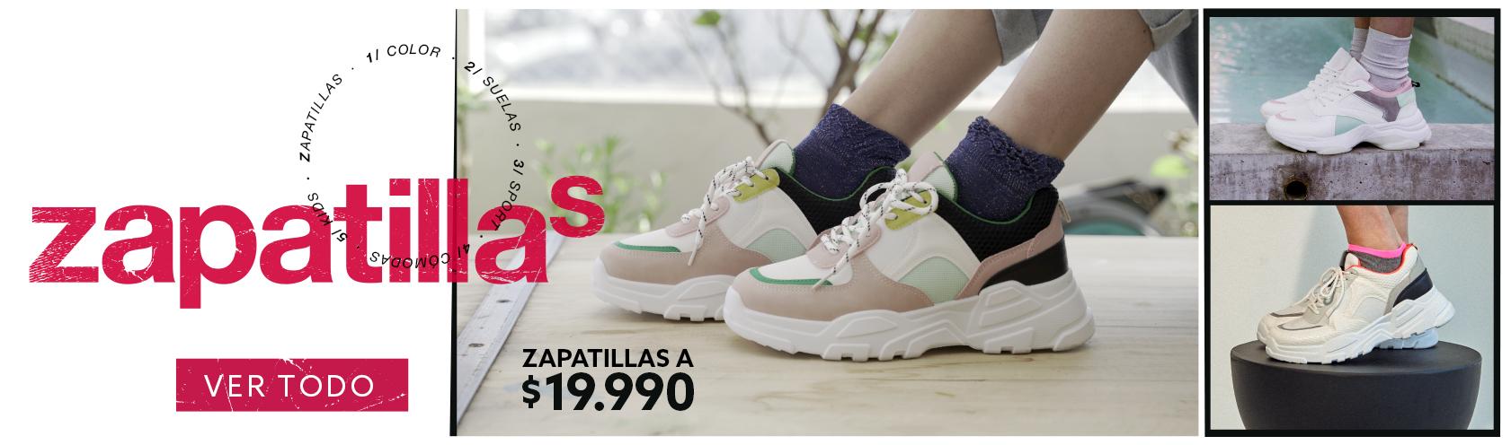 Zapatillas a $19.990