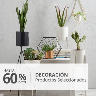 Hasta 60 por ciento menos en decoracion productos seleccioandos