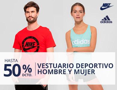 Liquidación Verano Vestuario Deportivo Hombre y Mujer