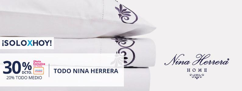 Hasta 30 porciento de descuento en Nina Herrera