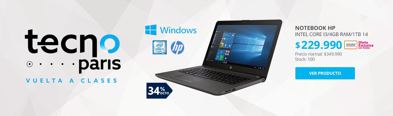 Notebook HP Intel Core I3/4GB RAM/1TB 14