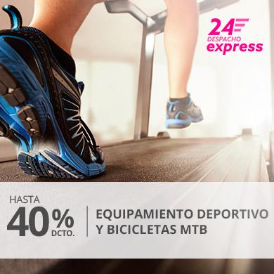 Hasta 40% en equipamiento deportivo y Bicicletas MTB