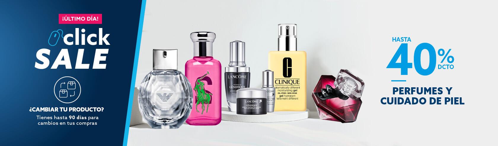 Hasta 40% de descuento todo medio de pago en perfumes y cuidado de la piel