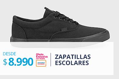 Zapatillas Escolares desde $8.990 TC