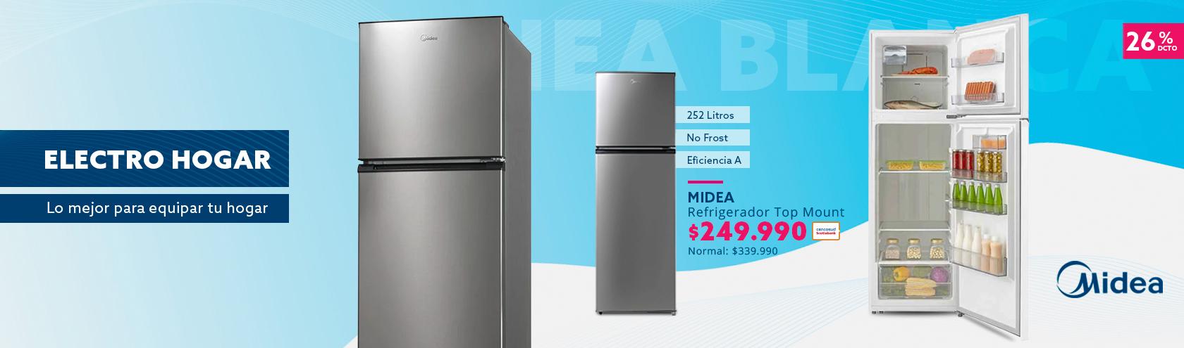 Refrigerador Top Mount 252 litros No Frost  a $249.990