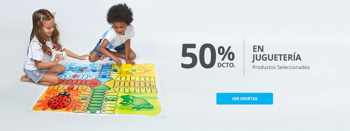 Hasta 50% dcto juguetería, productos seleccionados