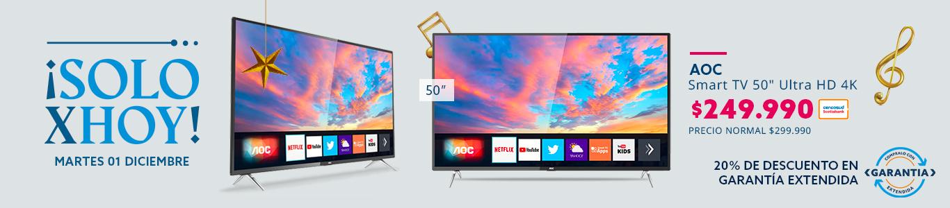 "Smart TV 50"" Ultra HD 4K/ Destacar pulgada"