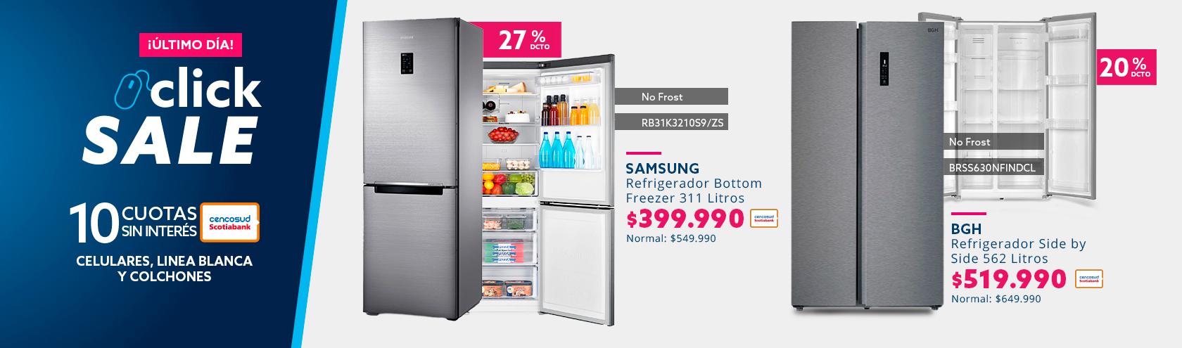 Descuento en refrigeradores