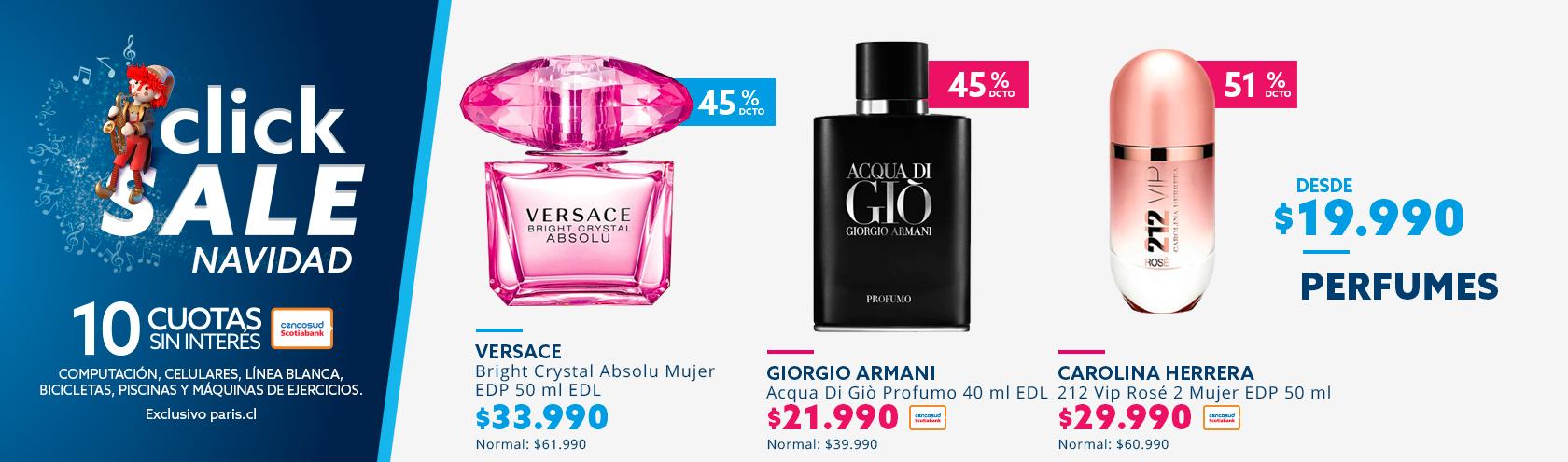 Desde 19990 pesos en perfumes