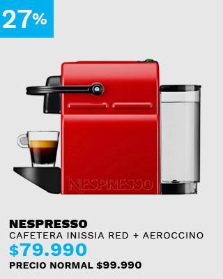 Cafetera Nespresso Inissia Red + Aeroccino 3
