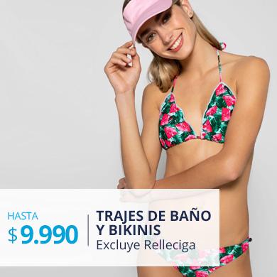 Trajes de baño y bikinis mujer hasta $9.990