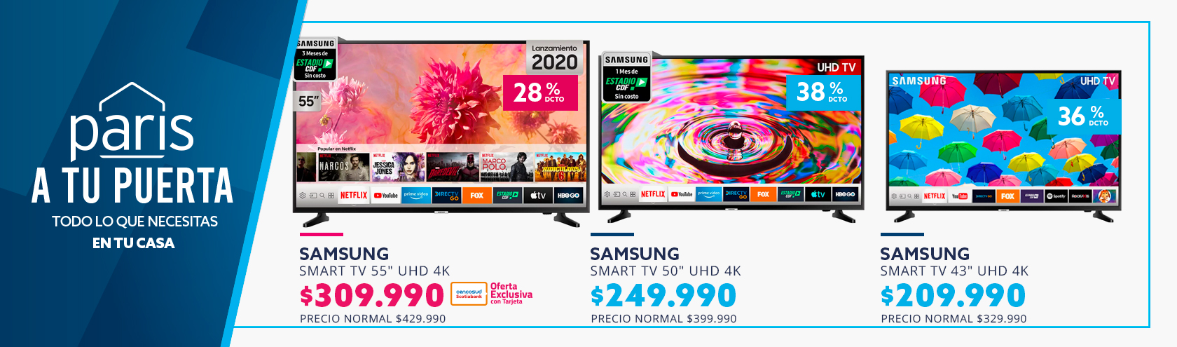 Ofertas en SmartTV paris.cl
