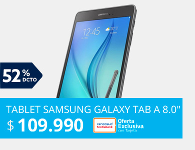 Tablet Samsung Galaxy Tab A 8.0 2GB RAM/16GB Quad Core Wi-Fi