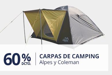 60% En Carpas Camping