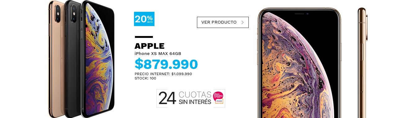 IPhone XS MAX 64GB - LOGO 24 CUOTAS