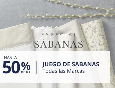 Hasta 50% en Sabanas